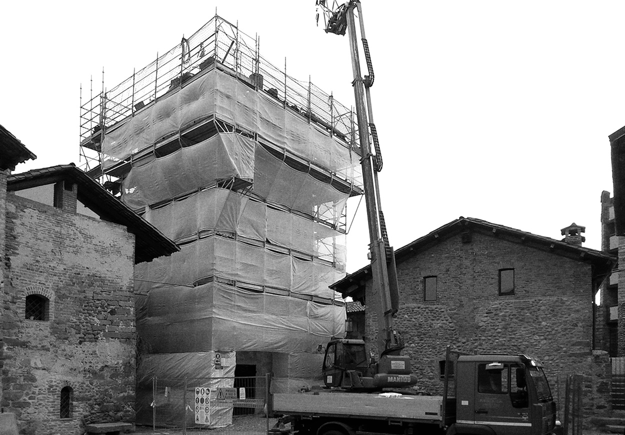Il restauro della torre del Palazzo